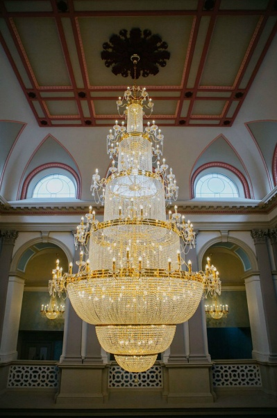 chandelier in Rockhill house Donegal